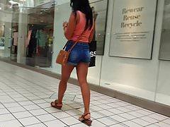 Candid voyeur milf at mall, tan and hot