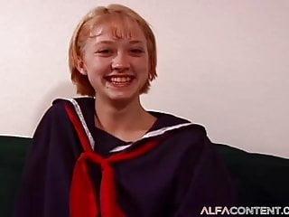 Cute Blonde Schoolgirl Gets Fingered Eaten And Fucked