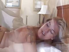 Sexy wife's pussy filled by black lovers