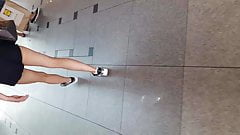 Hot Legs in Shopping Center in the South-West Germany