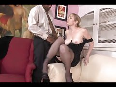 Sensational milf with big tits receiving a BBC