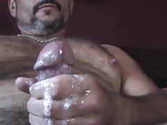 Sexy Daddy Horny Jerk Off & Cum ( Nipple Play )