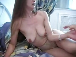 Russian mature Mila fucked on bed