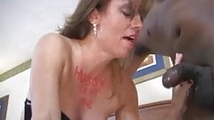 Slut wife fucks black men and hubby cleans up after