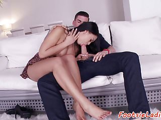 Busty Eurobabe Footworshiped After Giving Bj