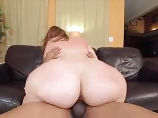 White BBW Cumming On BBC