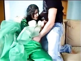 Beatiful Arabian chick getting fucked on the sofa