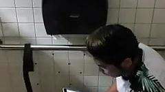 Caught - Jerking in the toilet (He caught me)