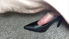 Black Heels Humped Full of Cum