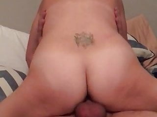 Hotwifes intense orgasm on top of hung bull