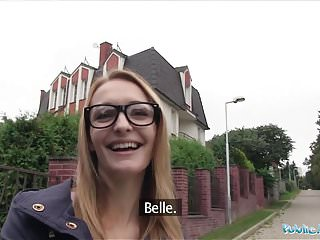 Public Agent Belle Claire has the best tits I've ever had