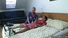 Old lady getting doggystyle fucked