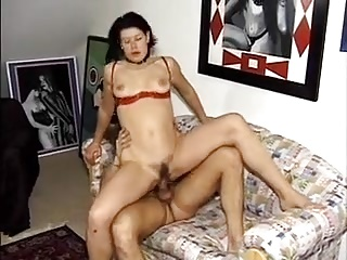German brunette fucked and pissed