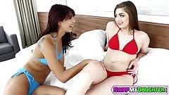 Gina Valentina and Kobi Brian having hot lesbian action porn image