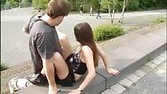 german teen fucks in public