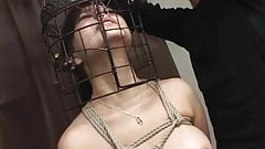 Subtitled Japanese CMNF BDSM nose hook bird cage play's Thumb