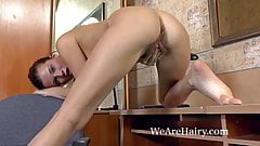 Hairy girl Angelica L learns about human nature