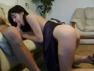 Liza Sure gives a good blow job