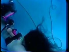 Scuba Girls Try Their Toys In The Pool