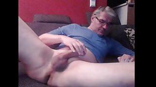 German dad stroking