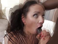 Interracial Blowjob Cumshot Compilation white Girls Sucking