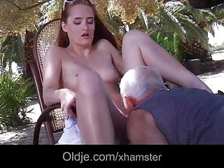 Old Fart Fucks And Licks A Horny Young Twat