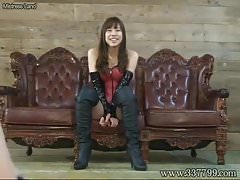 Japanese Femdom slap slaves and face sitting
