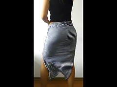 My girlfriend dance after sex with transparent skirt