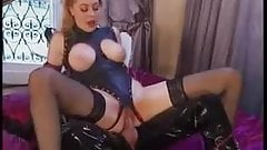 Saggy Hangers French Hard Anal Stockings