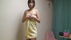 Sexy costume girl, take a shower