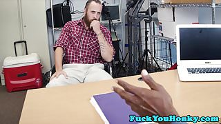 Interracial casting amateur goes gay for pay