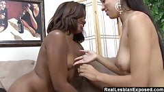 Tongue Lashed By My Hot Ebony Neighbor