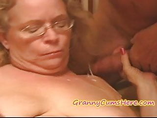 NASTY Granny gets FED her CREAM PIE