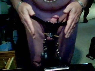 spiked cbt ball stretcher and more part 2 with cumshot