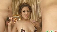 Great asian blowjobs for three