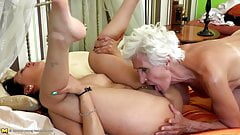 Old granny gets fresh sexy meat