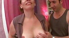 French mature Aurelie gangbanged