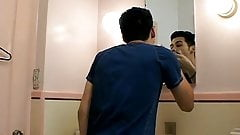 Young Dominic feasts and bounces on lovers fresh peeing dick