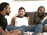 BlackWhiteLatino Threesome-HOT Group With BIG Dicks!