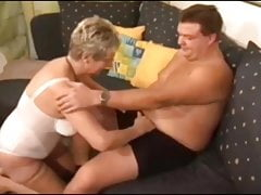 German Granny fucks young stranger boy's Thumb