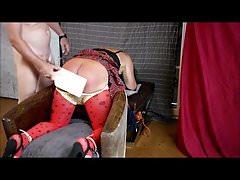 Crossdresser sapnking punishment