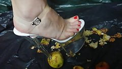 Lady L crush apples with 24 cm extreme high heels
