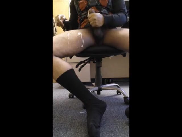 Jerking off at work-6688