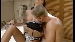 Nice brunette fucked  in bathroom