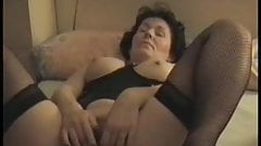 Mature hairy Milf masturbating for hubby