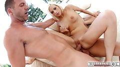 AllInternal Creampie filled anal threesome for Ria Sunn