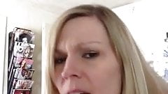 Blonde milf public sex