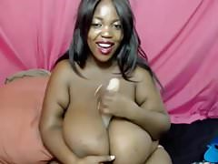 Beautiful African Angel Gives a Passionate Dildo Tittyfuck