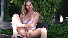 Big Tits MILF Elegant Eve Flashes and Plays in Portugal