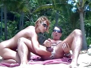 wife fist husband on a beach pt2